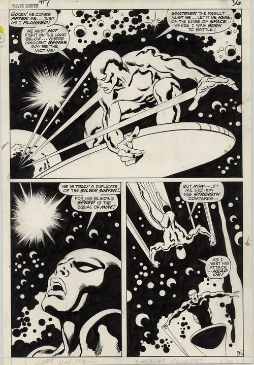 The Silver Surfer by John Buscema