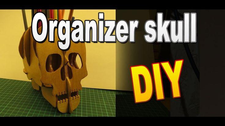 Как сделать органайзер Череп своими руками / Поделки на Хэллоуин / Sekre...