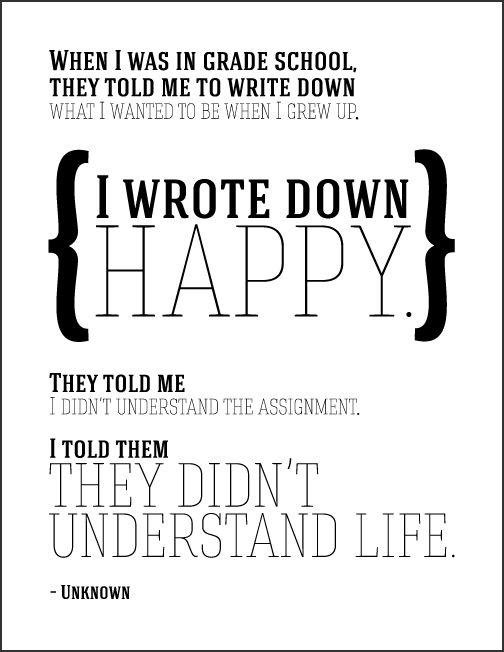 Happy – Quote