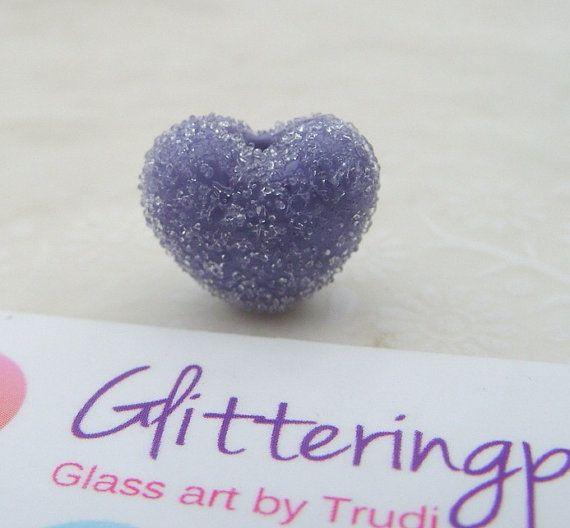 Lampwork Beads Glass Soft Lavender Sugar by GlitteringprizeGlass for jewellery / Jewelery making