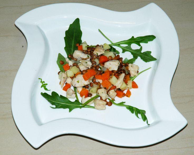 #obiad #dinner #soczewica #kurczak #fit #marchew #rukola