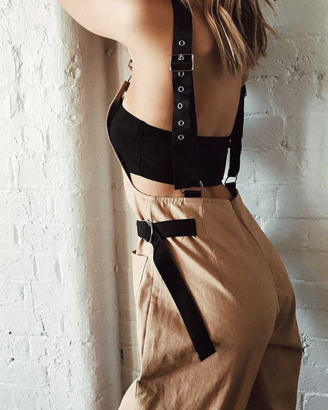 4b7630574334 GIA Cobain Overalls Tan    So obsessed. Badass babe vibes -- Online now   PrincessPolly