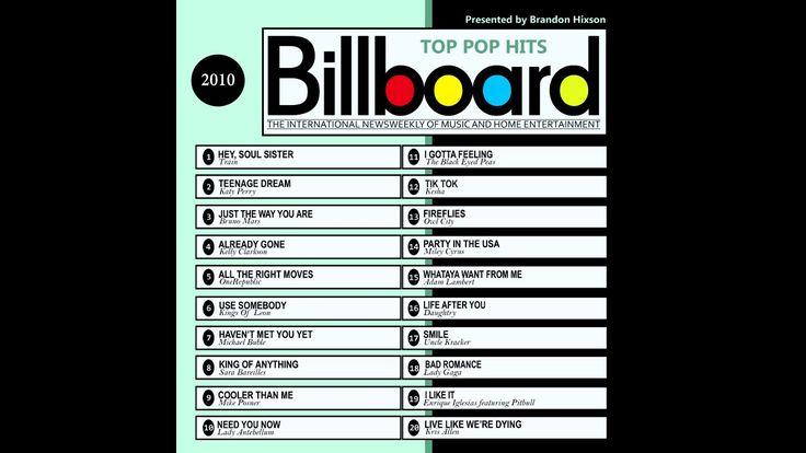 Billboard Top Pop Hits 2010 (2016 Full Album)