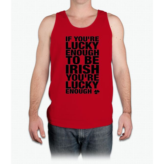 Lucky Irish- saint patrick day shirts - Mens Tank Top