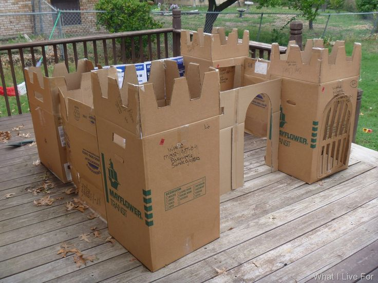 I was saving those cardboard boxes for a reason! To build a castle with my boys.