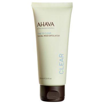 AHAVA Time To Clear Faical Mud Exfoliator - 3.4 oz