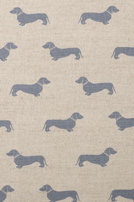 Blue Dachshund Fabric - Emily Bond
