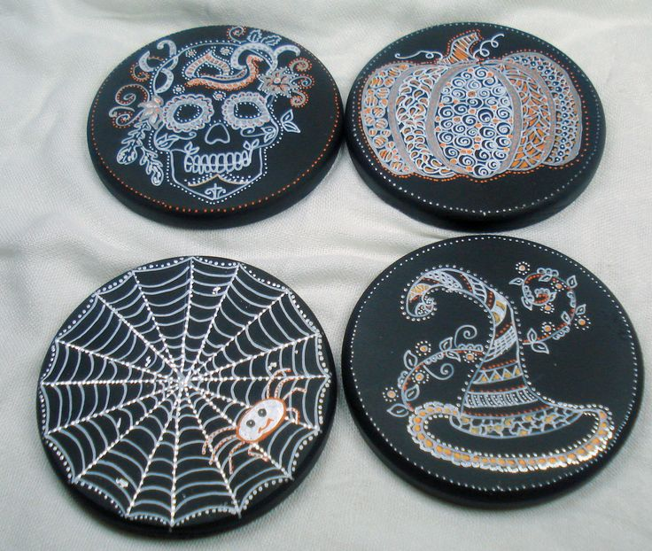 https://flic.kr/p/MnRxhD | Halloween coasters