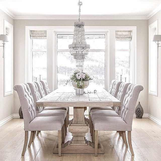 Love The All White Dining Room