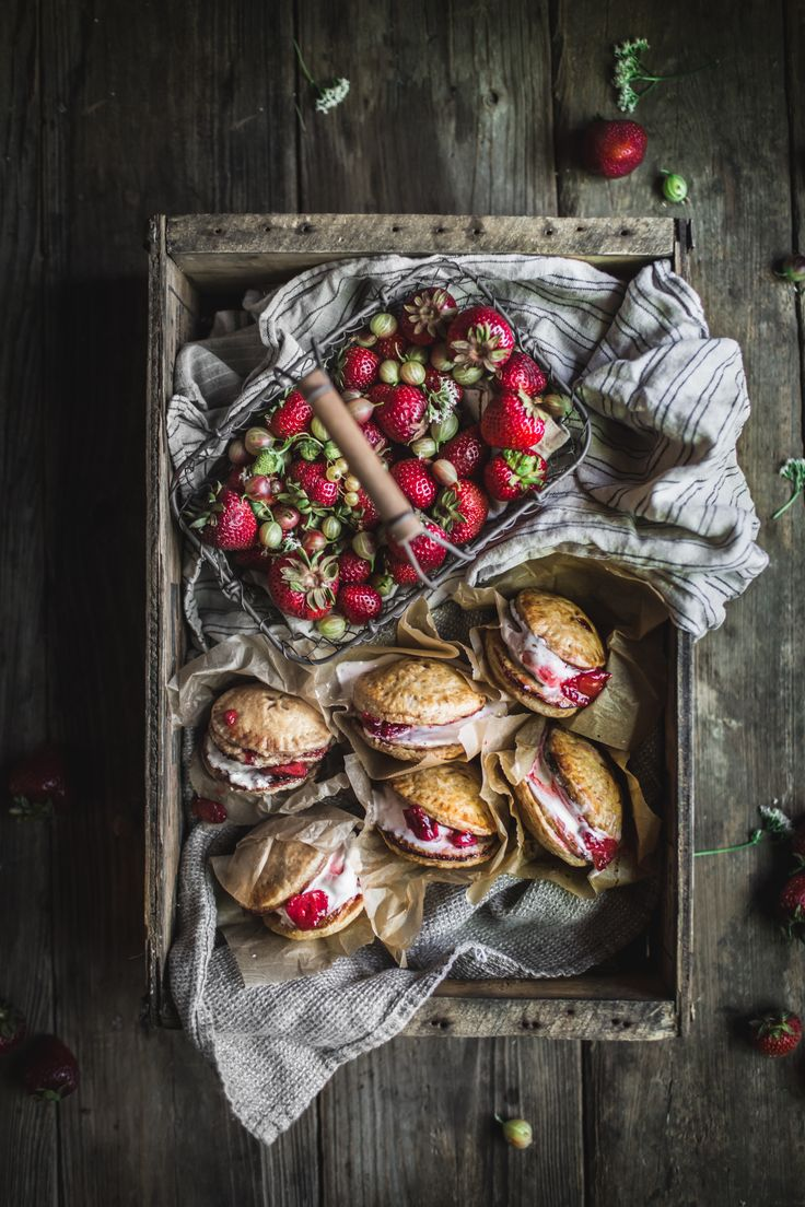 Strawberry Rhubarb Pie Ice Cream Sandwiches - Adventures in Cooking