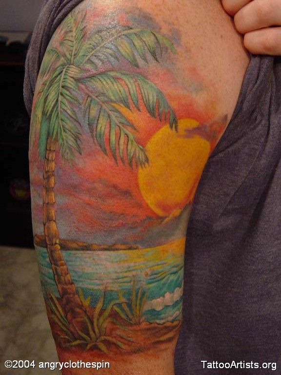 17 best ideas about sunset tattoos on pinterest island for Beach sunset tattoos