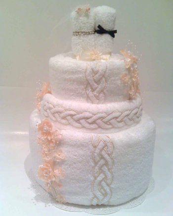 Wedding Towel Cake gift idea