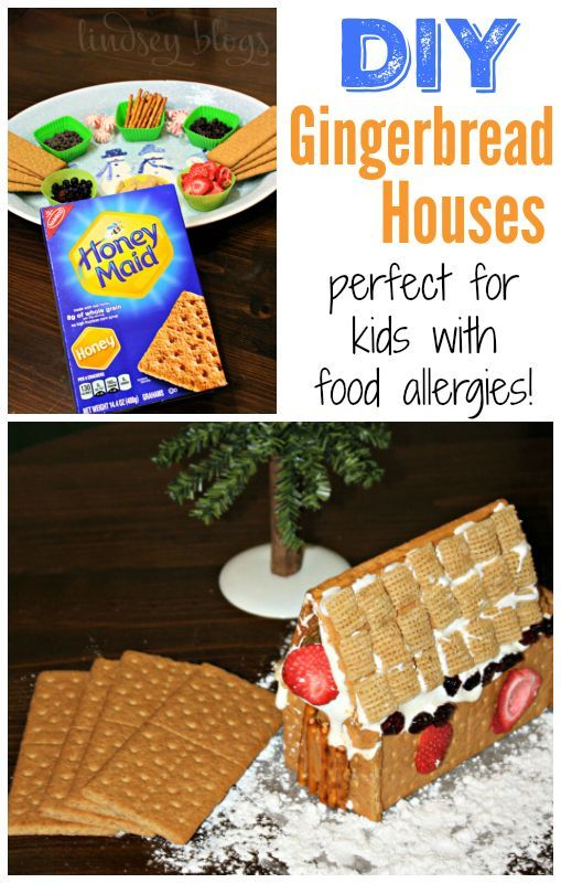 Are you looking for an alternative to store bought gingerbread kits? DIY Gingerbread Houses made with Graham Crackers are allergy and kid friendly!