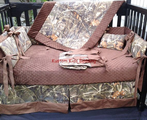 New 7 piece Max 4 brown real tree CAMOUFLAGE by KustomKidsBedding