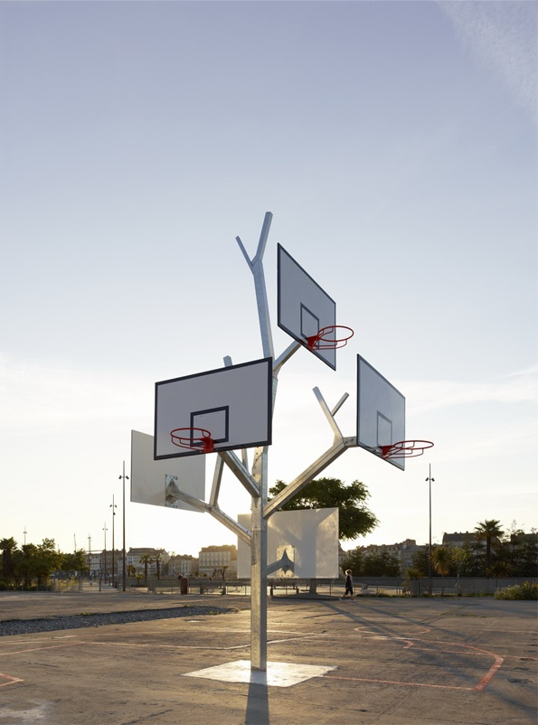 Designspiration — It's Nice That : Branching out - A/LTA Architects' Basketball Tree is a real winner