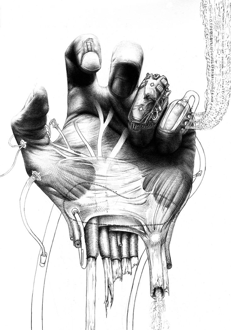 Fresh Meat: Jamy van Zyl meticulously represents the surreal in life-like detail, drawing scenes from a futuristic world where technology and humans begin to merge - http://10and5.com/2015/02/10/fresh-meat-jamy-van-zyl/