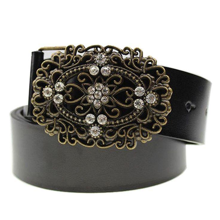 2015 summer buckle diamond belt fashion brand Wide belt women Pearl Retro women leather belt genuine with Rhinestones Waistband