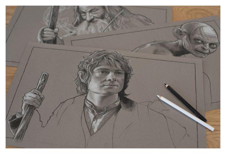 The Hobbit Part 3 - Pencil Study by jasonbrian007.deviantart.com on @deviantART