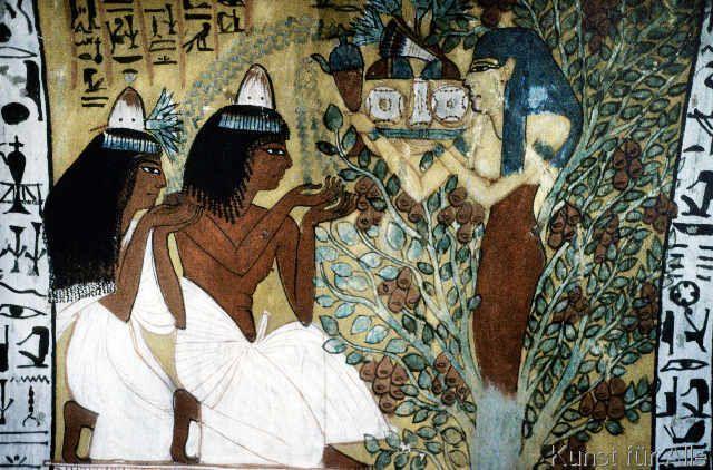 Ägyptische Malerei - Göttin Isis/Grab d.Sennedjem/Wandmalerei