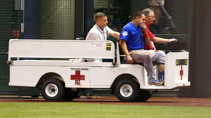 Cubs left fielder Kyle Schwarber will miss the rest of the season with a knee injury he suffered in an outfield collision Thursday night.