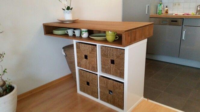 k che tisch raumteiler ikea hack selfmade pinterest. Black Bedroom Furniture Sets. Home Design Ideas