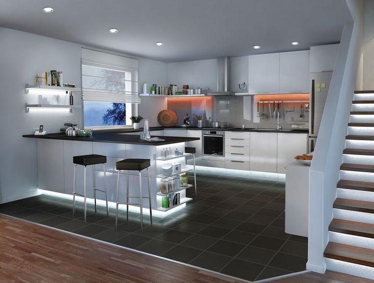 Otthonos és dekoratív világítás ötletek - LED szalagok a lakás bármely pontján