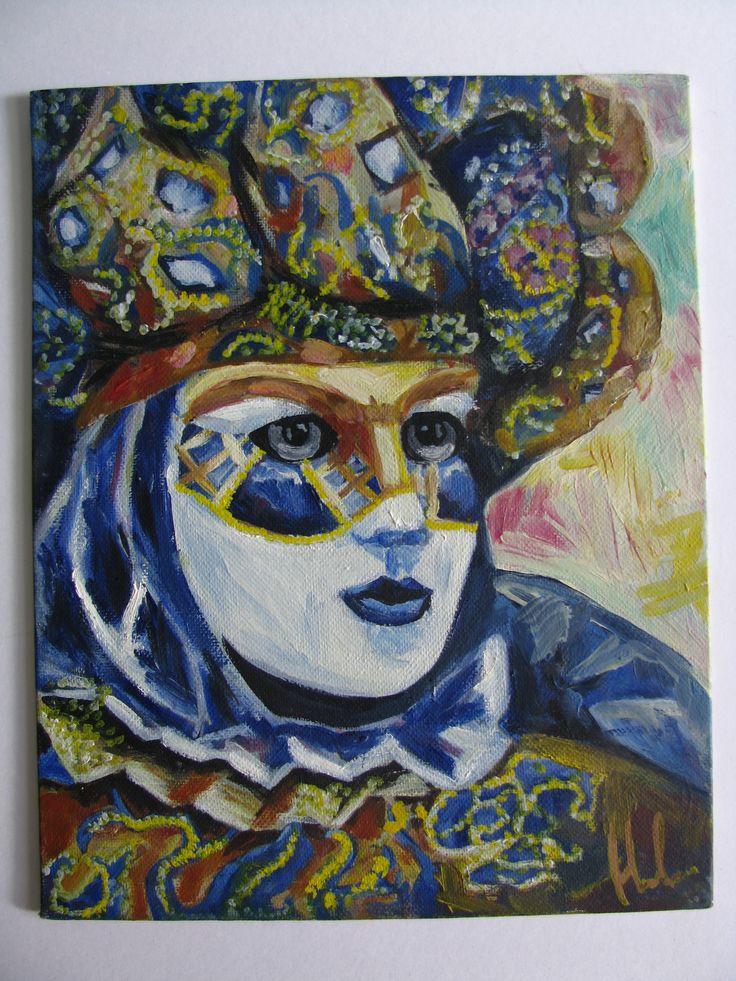 венецианский маскарад #art #drawing #oil