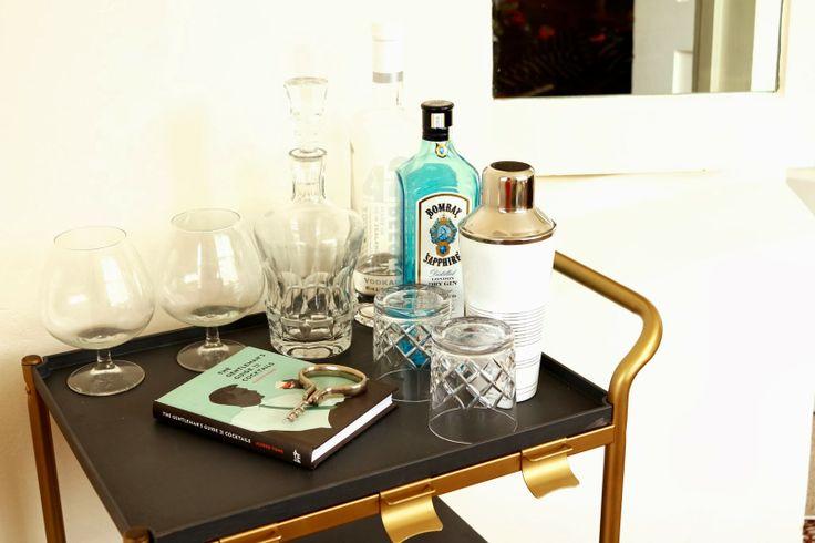 Gin liberty diy bar cart ikea hack home bar tea for Tea trolley ikea