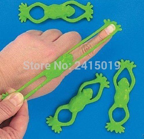 Бесплатная доставка Дешевые 48 xstretchable Sticky Прыжки лягушка палец шутер вечере pinata игрушка мешок наполнители липкий игрушка праздничные детские пользу