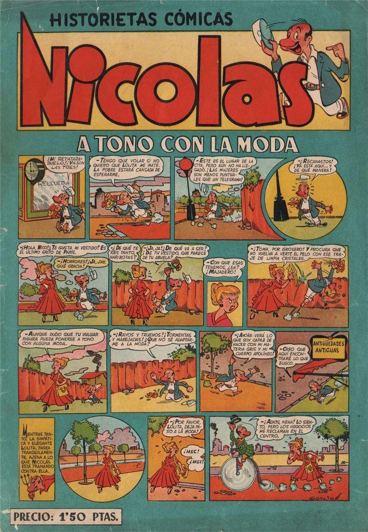"""Nicolas (sin tilde en la """"a"""") fue una revista de historietas española publicada con periodicidad bimensual (después, semanal) por Ediciones Cliper entre 1948 y 1955. Fue el tercer gran título de su editorial, tras """"El Coyote"""" y """"Florita"""" y uno de los grandes tebeos humorísticos de los años cincuenta. Constó de 239 números ordinarios y 3 almanaques"""