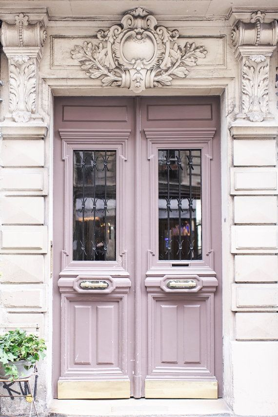 Lavender doorway in Paris.