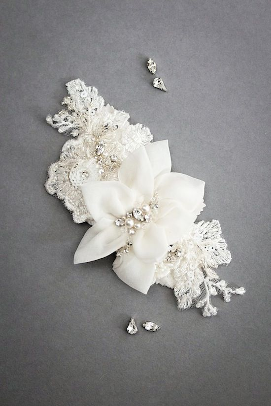 Bridal headpiece by Percy Handmade