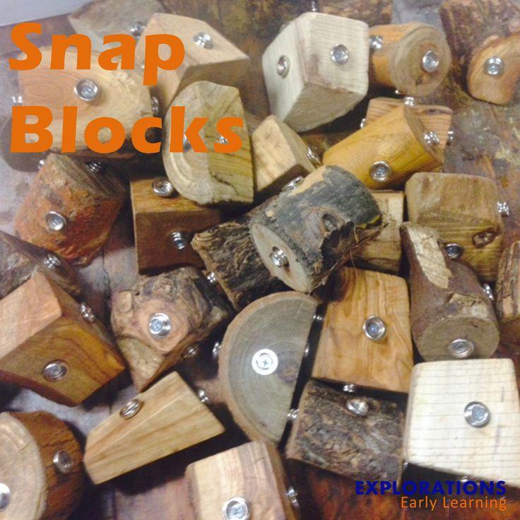 Maak de blokken met drukknopen aan elkaar? Hmm, interessant...