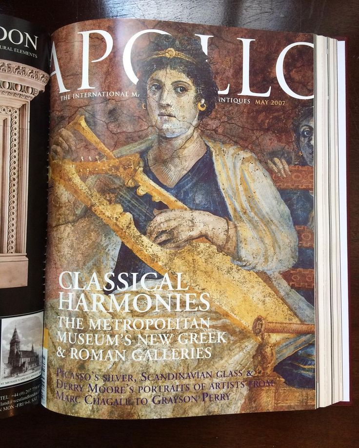 Throwback to the Apollo May issue 10 years ago! Take a look at this months issue for articles on Frank Lloyd Wright Camille Claudel and Markus Lüpetrz. Subscribe on our website!  Link in bio. #apollo #apollomag #apollomay #apollomagazine #currentissue #magazine #2007 #cover #classical #harmonies #art #cover