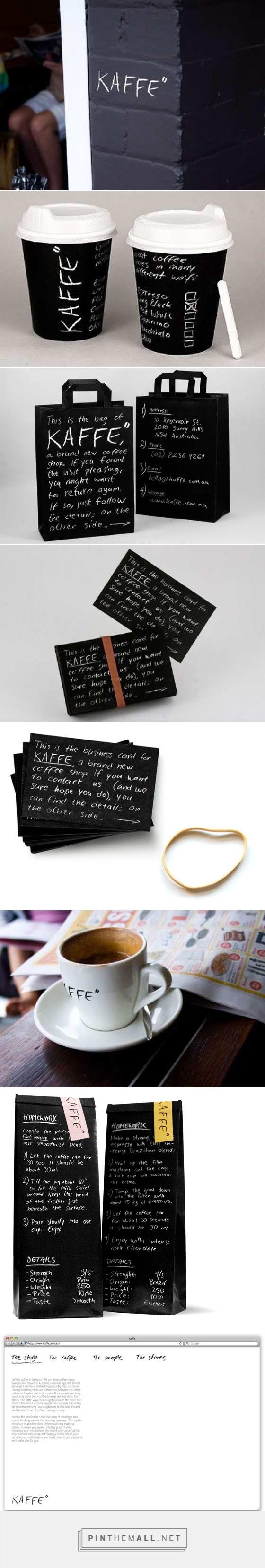 "Kaffe"" Coffee Shop Branding & Packaging By Jared Erickson"