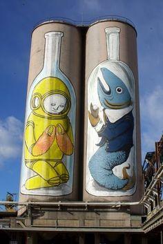 Blu Ancona, Ancona Italy, Ancona 2008, Graffiti Erica, Net Graffiti, Cane Blu, Art Strada, Street Art Guerilla, Cane Street Art ♥♥♥