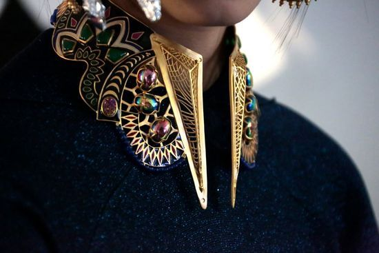 wow. collar. #jewelry >> BACKSTAGE AT MANISH ARORA AW13/14