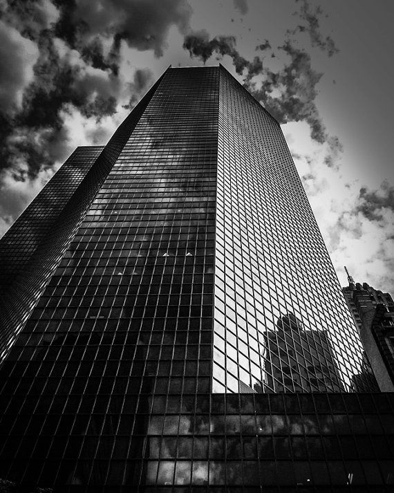 8x10 Black and White Print A View Of A Building by PelliculArt