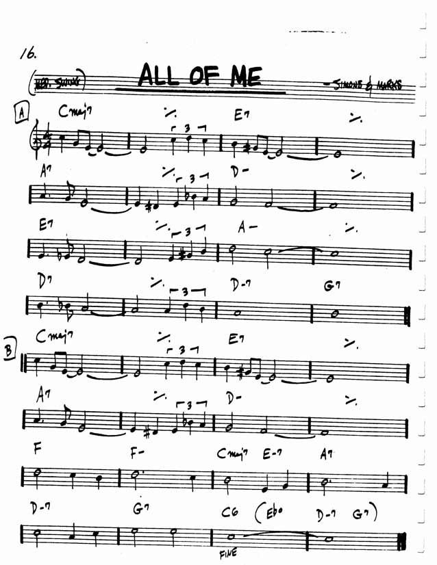Risultati Immagini Per All Of Me Pdf Real Book Partituras
