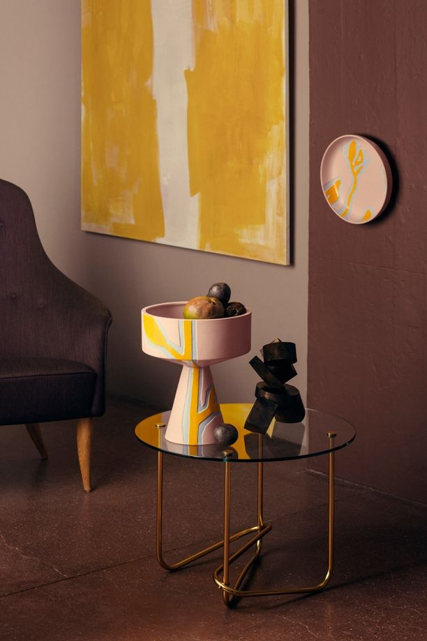 GUBI // Adam Chair and Matégot Lounge Table