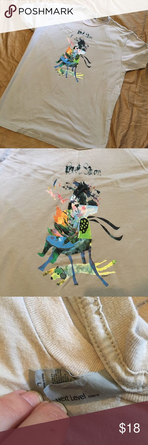 Official Paul Simon concert tee Tour 2016. Beige tee with multi color design. Make an offer! 30% off bundles of two or more! Shirts Tees - Short Sleeve