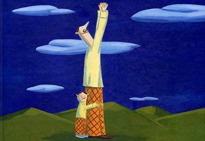 Décroche-moi la lune, papa, album illustré, enfant, livre, jeunesse. http://www.coupdepouce.com/mamans/parents/paternite-et-devenir-papa/5-albums-a-lire-avec-papa-ou-grand-papa/a/56462