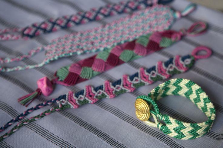 Macrame bracelets, by THEIA Lab's student Niki Bourdeka.