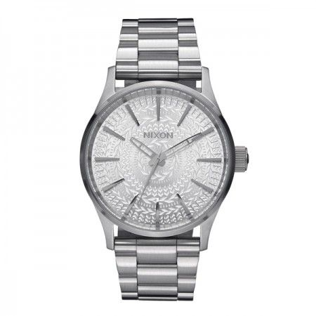 A0452129 Nixon Time Teller All Silver/ Stamped  Visit our store: www.watchworldindonesia.com