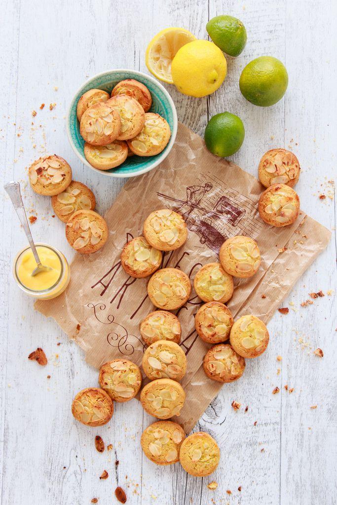 Galletas de almendra, lima y limón