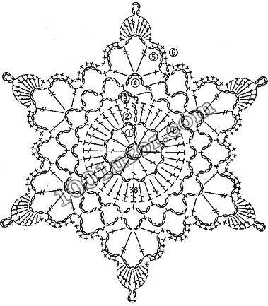 snowflakes crochet 87 schema