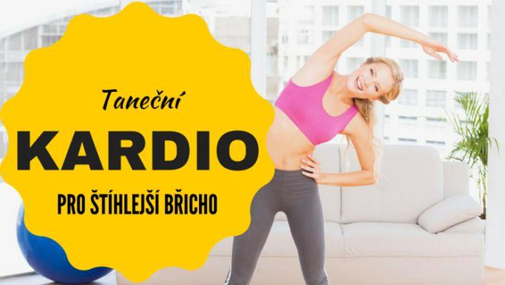 Taneční kardio cvičení pro štíhlé bříško