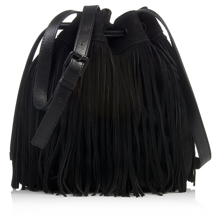 Nak shoes fringe bucket bag