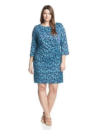 50% OFF JB by Julie Brown Women's Plus Morgan Sheath Dress (Navy)