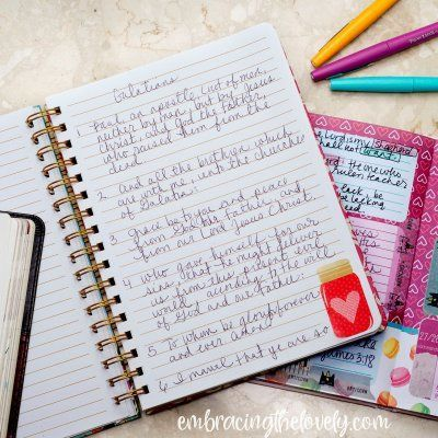 Daily Scripture Writing Plan